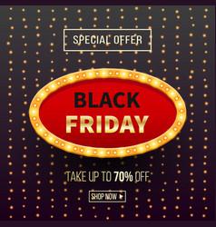 Black friday sale banner background with frame vector