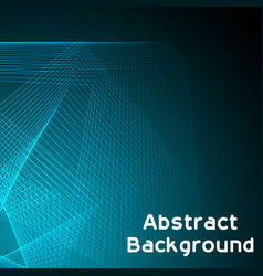 blue abstract lines black background image vector image