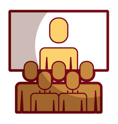 Business meeting manager group board vector