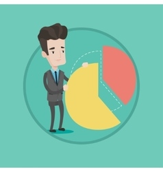 Businessman taking his share of the profits vector image