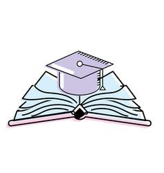 Cap graduation over open book vector
