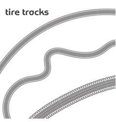 car wheel tire tracks vector image