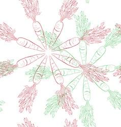 carrot mandala pattern vector image