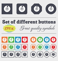 CD or DVD icon sign Big set of colorful diverse vector image