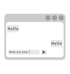 chat frames web window vector image