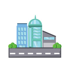 city building design vector image