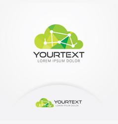 Cloud tech logo vector