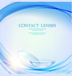 Contact lens concept vector