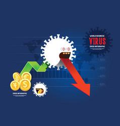 coronavirus virus crisis infographiccoronavirus vector image