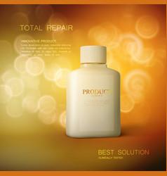 Cosmetics package design vector