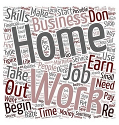 Create Your Own Work At Home Job text background vector