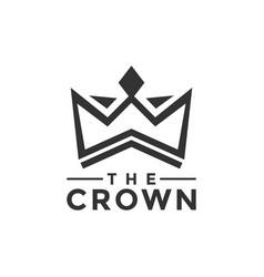 Crown logo design inspiration vector