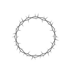 Crown thorns icon crown thorns round frame vector