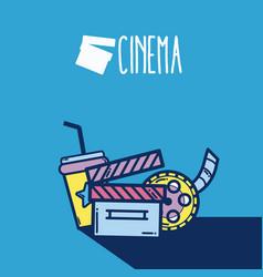 Cute cinema cartoons concept cinema cartoon vector