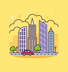 cute line icon vector image