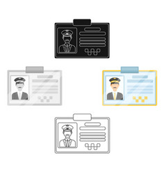 Driver document taxiplastik card taxi driver vector