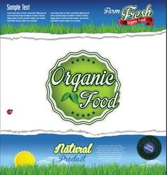 ecology nature organic food background vector image