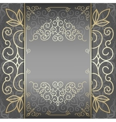 Elegant ornate background ornament for invitations vector image