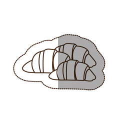 figure croissant bread icon vector image