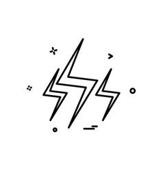 flash icon design vector image