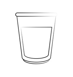 glass with milk vector image