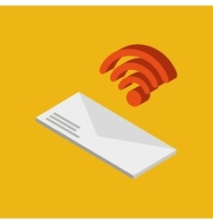 Global connection wifi digital message envelope vector