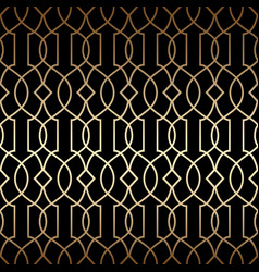 Golden art deco linear seamless pattern vector