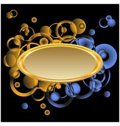 Golden frame for text vector