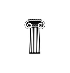 greek column icon black on white background vector image