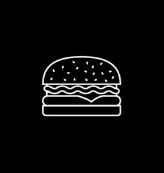 hamburger line icon food drink elements vector image