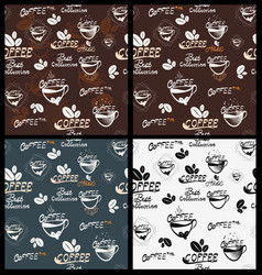 hand drawn coffee elements vector image