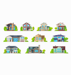 Home house villa bungalow condominium real estate vector