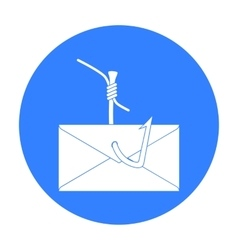 Hooked e-mail icon in outline style isolated on vector image