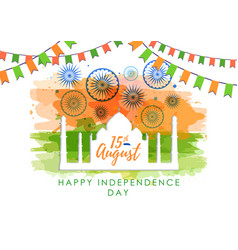 India independence day with firework vector