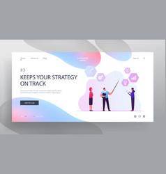 Key performance indicator website landing page vector