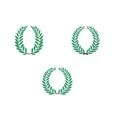 laurel wreath reward set modern symbol of victory vector image
