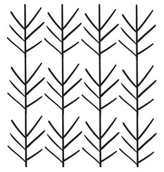leafs plant decorative pattern vector image