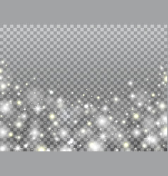 magic light frame on transparent background vector image