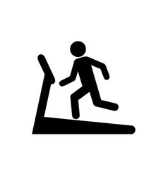man on treadmill icon vector image