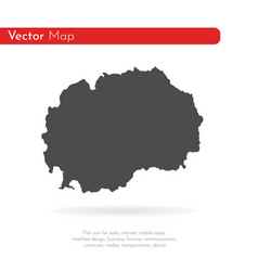 map macedonia isolated black vector image