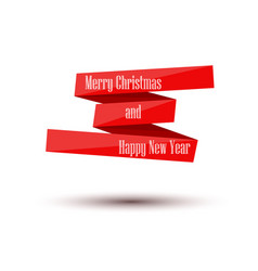 merry christmas and happy new year banner tape vector image