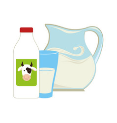 milk jar isolated icon vector image