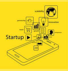 modern and simple info graphic of startup business vector image