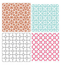 Modern mesh seamless pattern in geometric style vector
