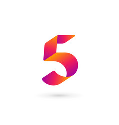 number 5 logo icon design template elements vector image
