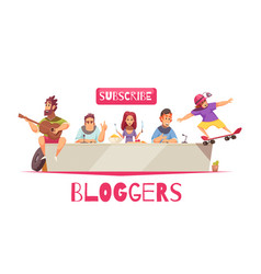 online bloggers community background vector image