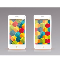 Perfectly detailed modern smart phone mobile vector image