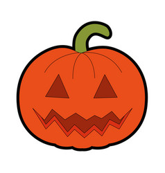 pumpkin hallooween decorative icon vector image