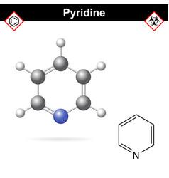 pyridine organic solvent molecular structure vector image
