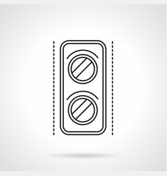 railway traffic light flat line icon vector image